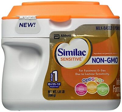 Similac Sensitive Non-GMO Stage 1- Birth to 1 year - Powder - 1.41lbs - Exp 6/18