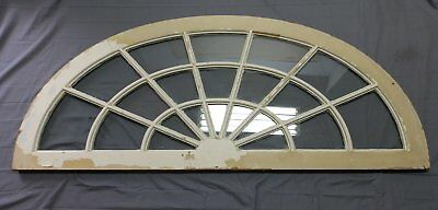 Large Antique Arched Dome Top Transom Window Sash 29x70 Sunburst Vtg 550-18P