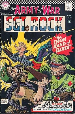 "Dc Comics - Our Army At War Sgt. Rock  #165 Mar 1966 ""return Of The Iron Major"""