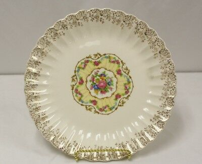 "Vintage American Limoges ""toledo delight"" 22-k Gold Dinner Plate"