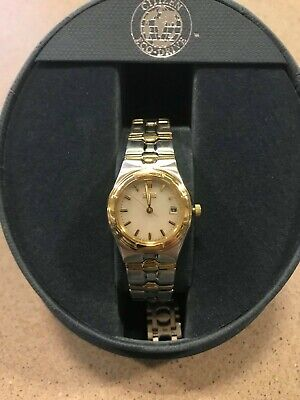 Citizen Women's EW0494-55P Eco-Drive Riva Two Tone Watch (PRE-OWNED)