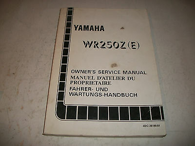 Official 1993 Yamaha Wr250Z(E)  Motorcycle Shop Service Manual Clean Have More