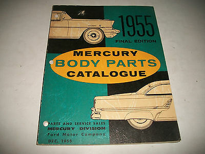 1955 Mercury Original Final Issue Body Parts Catalog Includes Soft Trim  Clean