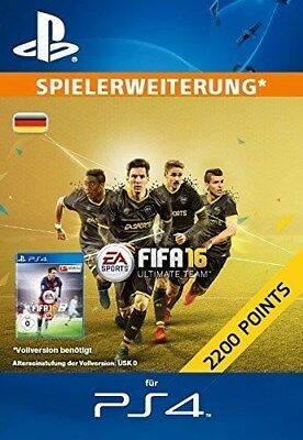 FIFA 16 2200 Ultimate Team Punkte (Code Only) (PC) (Videospiel)