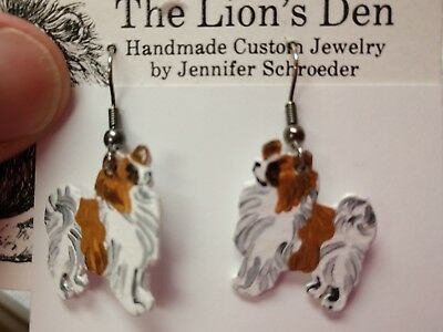 PAPILLON  Earrings Hand Made by Jennifer Schroeder-1 inch Nose to Tail