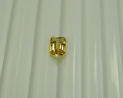 Precious Gemstone Imperial Topaz 1.43 Ct Faceted Baguette, Clarity If I073