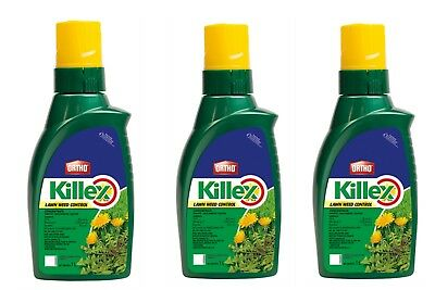 3 X 1L Bottles - Killex Weed Control Concentrate - Fresh 2018 Inventory