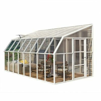Greenhouses Clear Acrylic Twin-Wall Panels 8 x 16 Ft. Home Adjoining Structure
