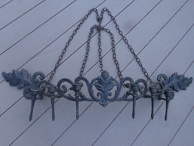 """Vtg Sexton 1971 Gothic Medieval Candle Sconce Wrought Iron 6 Candle Holder 40"""""""