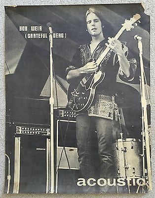 Bob Weir-Grateful Dead- RARE Acoustic Amp PromoPoster-Great Picture-late 60s-70s