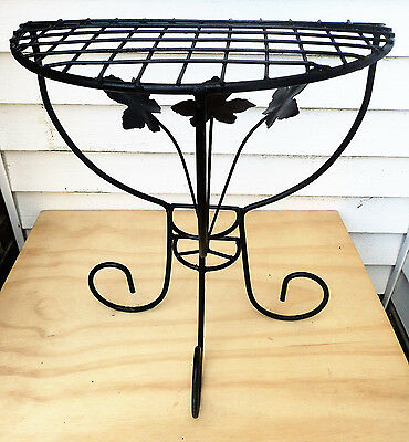 Demi Lune Metal Wire Plant Stand Table Half Moon Console Semi Circular Flowers