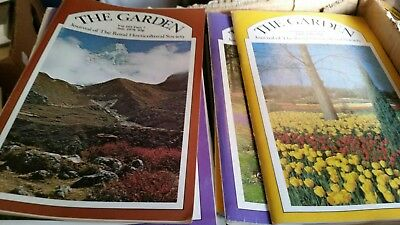 RHS The Garden Magazine .172 issues late 70s to 90s.Excellent condition.