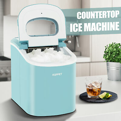 26 LBS Portable Electric Ice Maker Countertop Ice Cube Compact Machine Blue