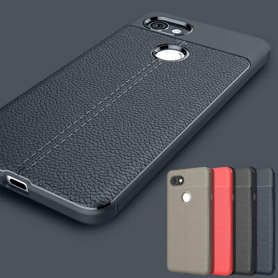 Slim Soft Leather Shockproof Rubber Rugged Case Cover For Google Pixel 2 / 2XL