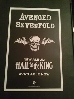 Avenged Sevenfold poster - Hail to the King - 11x17 metal punk rock