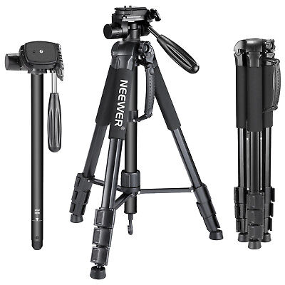 Neewer Portable DSLR Camera Tripod Monopod with Pan Head for Canon Nikon Sony