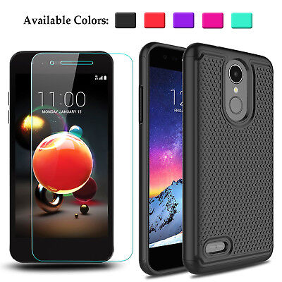 For LG Tribute Dynasty /Aristo 2/Rebel 4/Phoenix 4 Case Cover + Screen Protector