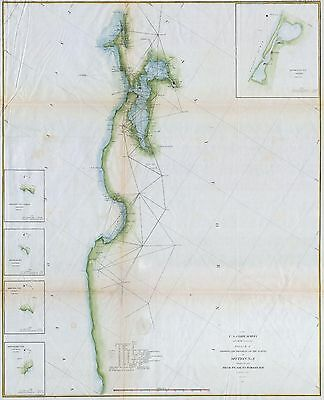 1857 Coastal Survey map Nautical Chart San Francisco Bay San Francisco