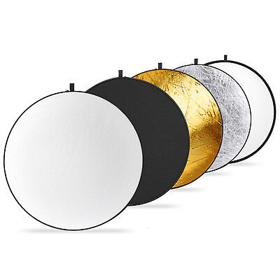 Neewer Round 19.6 inches 5-in-1 Collapsible Multi-Disc Light Reflector Disk
