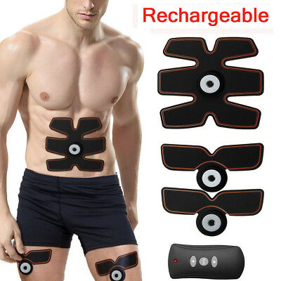 Rechargeable ABS Simulator EMS Training Body Abdominal Muscle Exerciser