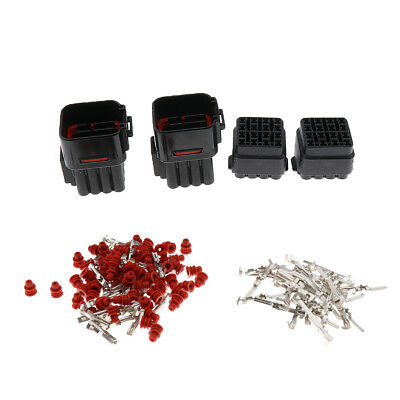 2 Sets 16Pin Car Waterproof 2.2mm Terminals Electrical Wire Connector Plugs