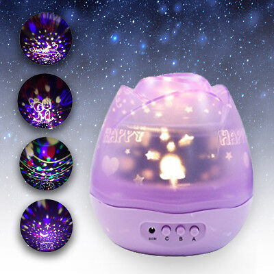 Balla Bébé Night Light Baby Bedroom Projector Party Decoration Kids Gift Purple