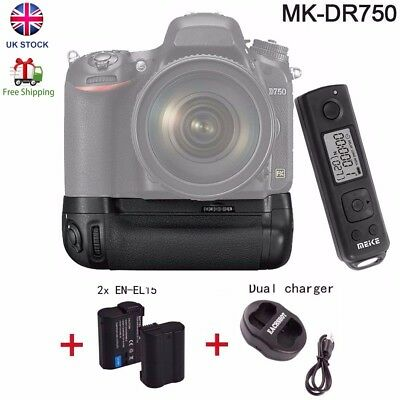 Meike MK-DR750 2.4G Wireless Remote Camera Battery Grip for Nikon D750 as MB-D16