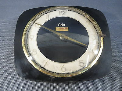 Antique Wall Clock Battery Operated Vintage Odo French Deco Years 60