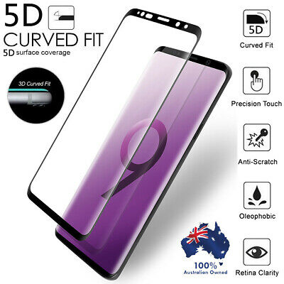 Samsung Galaxy S9+ S8 Plus Note 8 Tempered Glass Full Cover Screen Protector AU