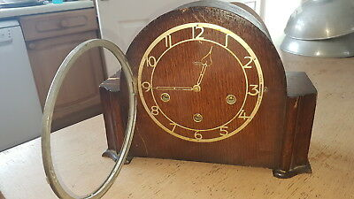 Vintage Large Oak Smiths Enfield Westminster Chime Clock 1950's / Repairs