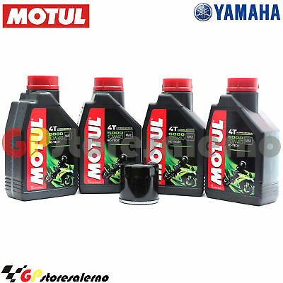 Kit Olio + Filtro Motul 5000 10W40 4L Yamaha 660 Grizzly Wetlands Hunter Ed 2003