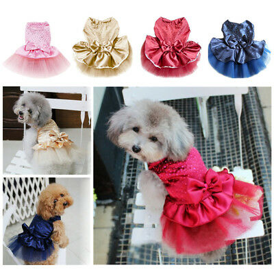Small Pet Dogs Wedding Tutu Dress Puppy Princess Skirt Apparel Costume Clothes