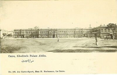 Cpa Egypt Cairo Khedive's Palace Abdin Egypte Le Caire Khedivial Palace Abdine