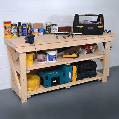 Wooden Heavy Duty Work bench - Hand Made in UK