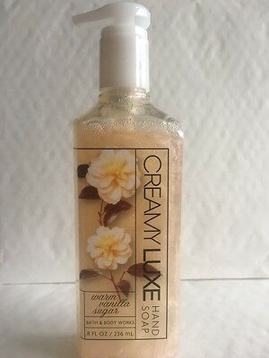 Bath & Body Works WARM VANILLA SUGAR Creamy Luxe Hand Soap 236ml