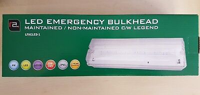 High Efficiency 4W Emergency LED Bulkhead - IP65 - Maintained / Non