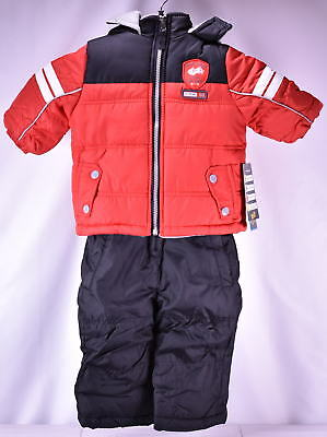 iXtreme Baby Boys Infant Active Colorblock Snowsuit - RED