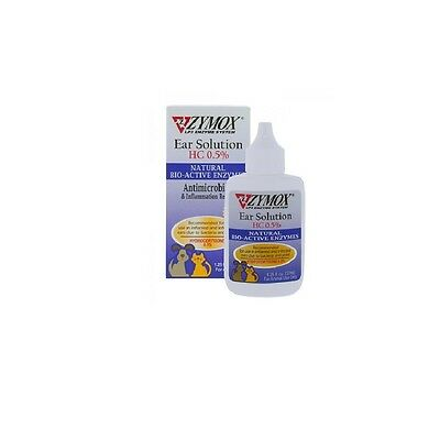 Ear Solution w/ HC for Dogs & Cats - ZYMOX - 1.25 oz - Relief Effective