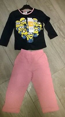 Blue Pink Despicable Me Minions nightwear pyjamas sleepwear NEW  Girls Age 3