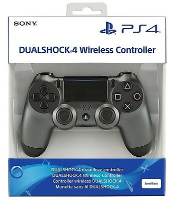 Sony Dualshock 4 V2 Black Steel Nero Ps4 Controller Wireless Pad Playstation 4