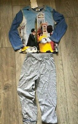 Blue Despicable Me Minions nightwear pyjamas sleepwear NEW Girls Age 3 4 6