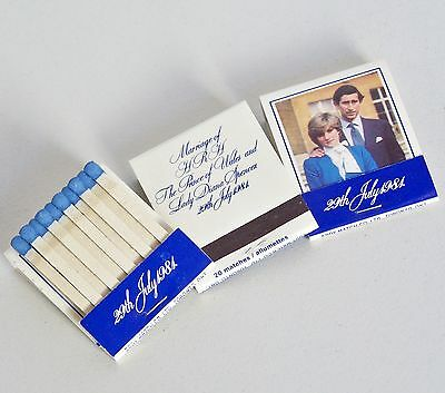 Rare Charles & Diana Royal Wedding Souvenir Matchbook Prince & Princess Of Wales