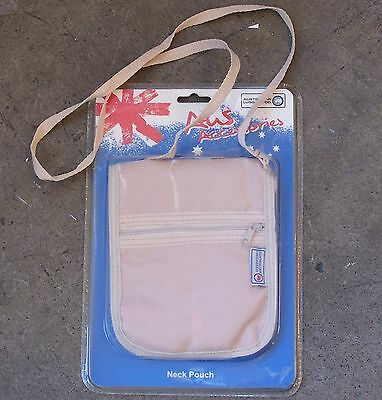 AUSTRALIAN LUGGAGE Co NECK/BELT POUCH PASSPORT HOLDER TRAVEL WALLET BUM BAG