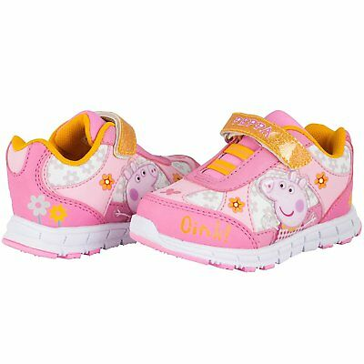 NEW NWT Girls Peppa Pig Sneakers Light Up Size 5 6 7 8 9 10 11