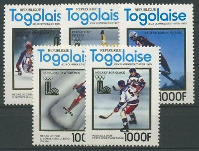 Togo 1980 Olympiade Lake Placid 1513/17 A postfrisch