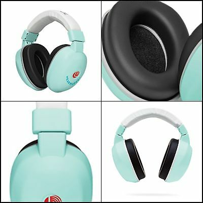 Baby New Born Infant Hearing Protection Audio EarMuffs Adjustable Band Spa Green