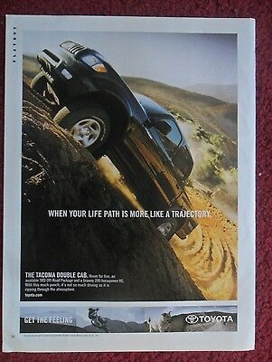 2003 Print Ad Toyota Tacoma Pickup Truck ~ When Your Life Path Like A Trajectory