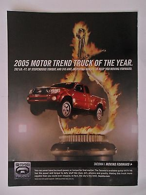 2005 Print Ad Toyota Tacoma Truck 4x4 ~ Motor Trend Truck of the Year