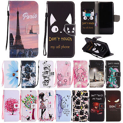 Magnetic Pattern Leather Wallet Stand Case Cover For Samsung Galaxy S8 S9 Plus