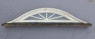 """Antique Eyebrow Arch Top Dome Window 16"""" x 71"""" Fan Old Shabby Vtg Chic 562-17P"""